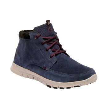 Men's Marine Mid Thermo Boots Navy Burgundy