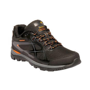 Regatta Kota Thermo Low Walking Shoes Black Granite