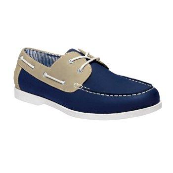 Men's Porto Shoes Navy Beige
