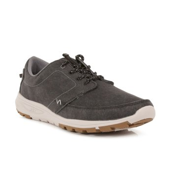 Regatta Men's Marine II Casual Trainers - Washed Black
