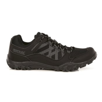 Regatta Men's Edgepoint III Waterproof Walking Shoes - Black Granite