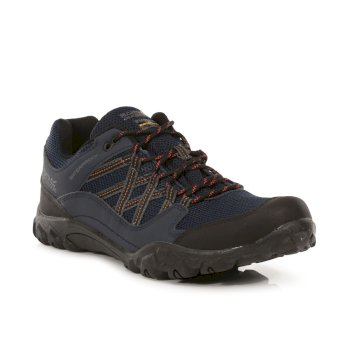 Regatta Men's Edgepoint III Waterproof Walking Shoes - Navy Burnt Umber