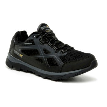 Regatta Men's Kota II Low Waterproof Walking Shoes - Black Granite
