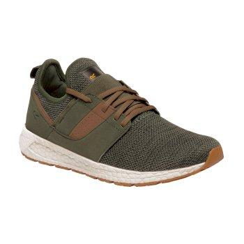 R-81 - Herren Sneaker - Strick-Obermaterial Dark Khaki Saddle