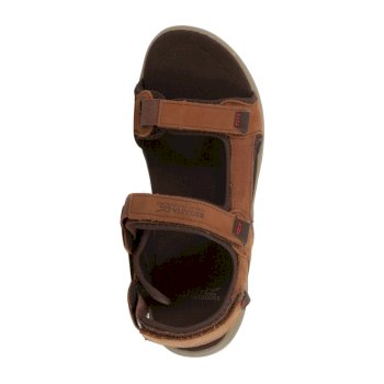 Men's Marine Leather Walking Sandals Braun