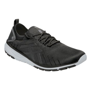 Regatta Men's Marine Sport III Trainers - Black Rock Grey