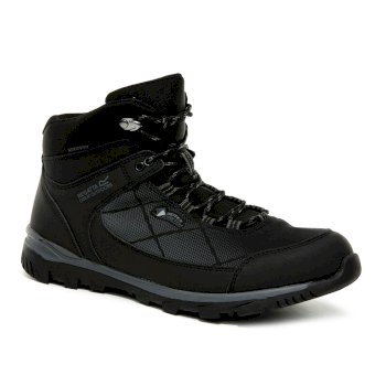 Regatta Men's Highton Stretch Waterproof Walking Boots - Black Ash