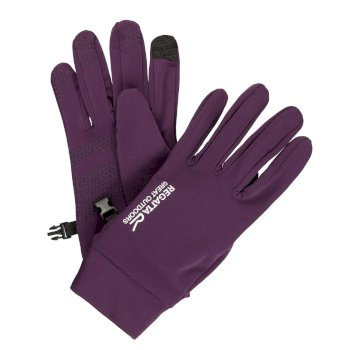 Regatta Men's Touchtip Stretch Softshell Gloves - Blackberry Wine