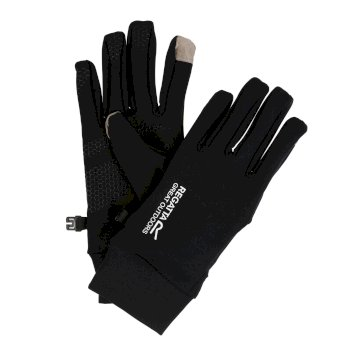 Regatta Men's Touchtip Stretch Softshell Gloves - Black