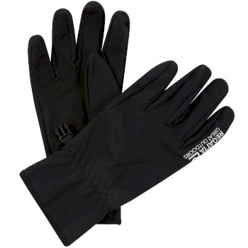Regatta Men's Stretch Softshell Gloves - Black