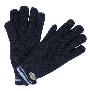 Regatta Balton Cotton Jersey Knit Gloves - Navy