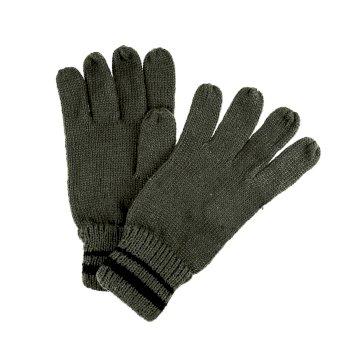 Regatta Men's Balton II Knitted Gloves - Dark Khaki Black