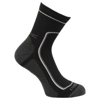 Regatta Men's 2 Pack Active Socks Black Clove