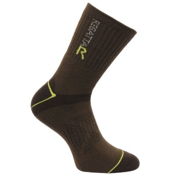 Regatta Men's Two Layer Blister Protection Socks Clove Oasis Green