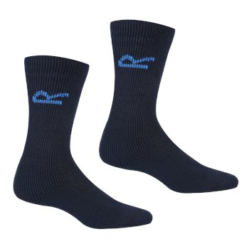 Men's 5 Pack Basic Thermal Loop Socks Navy