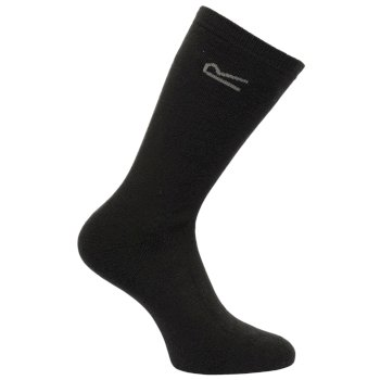 Regatta Men's 5 Pack Basic Thermal Loop Socks - Black