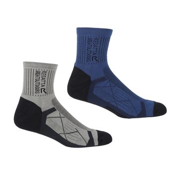 Active Outdoor-Socken, 2er-Pack für Herren Blau