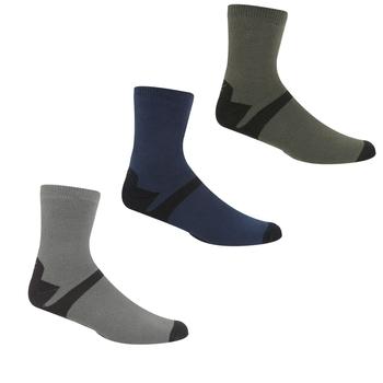 Regatta Men's 3 Pair Outdoor Lifestyle Socks - Dark Steel Dark Denim
