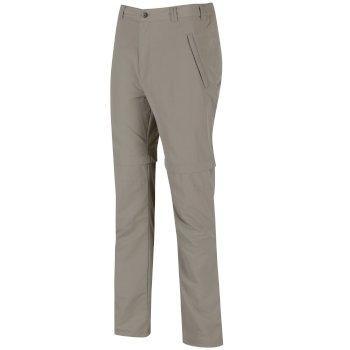 Regatta Men's Leesville Lightweight Zip Off Hiking Trousers - Parchment