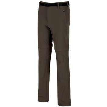 Xert Stretch II Zip-Off-Wanderhose für Herren dunkelgrün