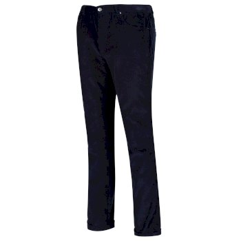 Men's Larimar Coolweave Cotton Trousers Navy