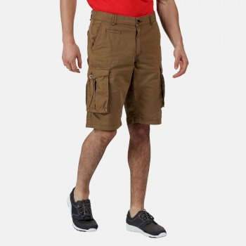 Men's Shorebay Vintage Look Cargo Shorts Braun