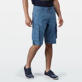 Men's Shorebay Vintage Look Cargo Shorts Blau