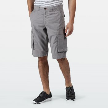 Men's Shorebay Vintage Look Cargo Shorts Grau
