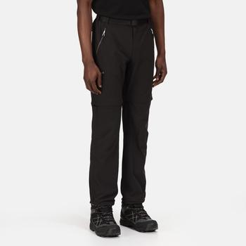 Xert III Zip-Off-Stretchhose für Herren Schwarz