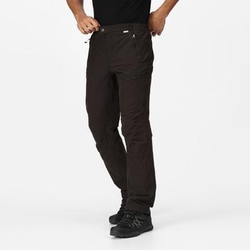 Highton Winter Walkinghose mit vielen Taschen für Herren Schwarz