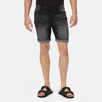 Dacken Denim-Shorts im Vintage-Look für Herren Schwarz