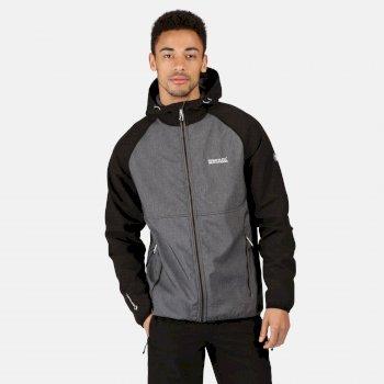 Regatta Men's Arec II Hooded Softshell Jacket - Magnet Grey Black
