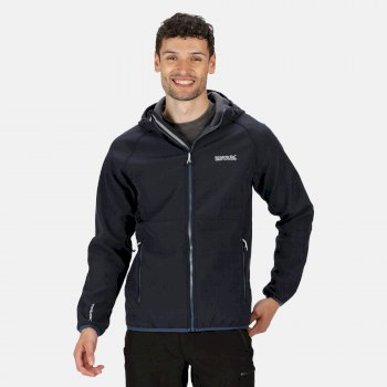 Regatta Men's Arec II Hooded Softshell Walking Jacket - Navy Seal Grey