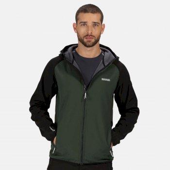 Arec II Softshell-Walkingjacke mit Kapuze für Herren Grün
