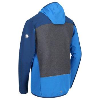 Carpo II - Herren Hybrid-Softshelljacke mit Kapuze Oxford Blue Magnet Grey