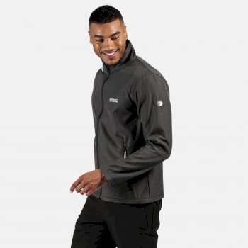 Regatta Men's Cera IV Softshell Walking Jacket - Black Marl