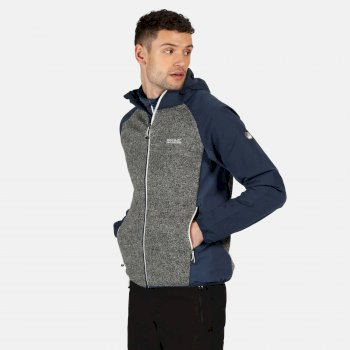 Garn Softshell-Walkingjacke mit Kapuze für Herren Blau