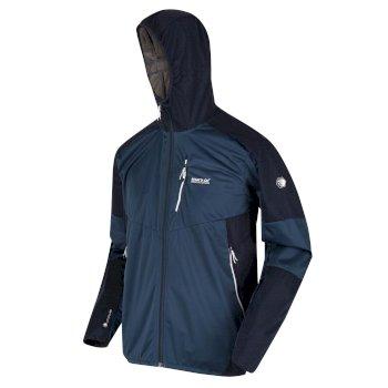 Tarvos IV leichte Softshell-Walkingjacke mit Kapuze für Herren Blau