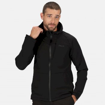 Regatta Men's Westville Hooded Softshell Walking Jacket - Black