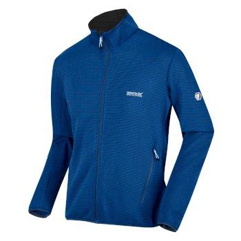 Highton Lite Softshell-Walkingjacke mit durchgehendem Reißverschluss für Herren Blau