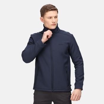 Caelum winddichte Softshell-Jacke für Herren Blau
