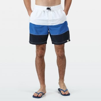 Regatta Men's Bratchmar VI Swim Shorts - White Nautical Blue Navy