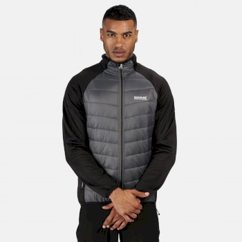 Regatta Men's Bestla Hybrid Lightweight Insulated Jacket - Black Magnet Grey