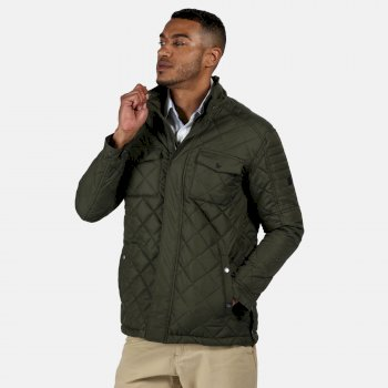 Regatta Men's Lleyton Quilted Jacket - Dark Khaki