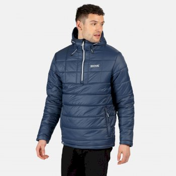 Regatta Men's Spenlow Insulated Quilted Half Zip Hooded Walking Jacket - Brunswick Blue