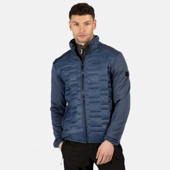 Regatta Men's Clumber Hybrid Insulated Quilted Walking Jacket - Brunswick Blue