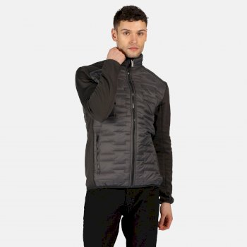 Regatta Men's Clumber Hybrid Insulated Quilted Walking Jacket - Magnet Ash