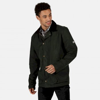 Regatta Men's Country Water Repellent Wax Jacket - Dark Khaki