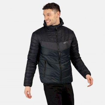 Regatta Men's Frostblast Insulated Quilted Hooded Walking Jacket - Black Ash