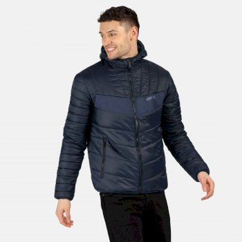 Regatta Men's Frostblast Insulated Quilted Hooded Walking Jacket - Navy Nightfall Navy